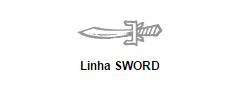 Linha Sword das Tesouras Mizutani